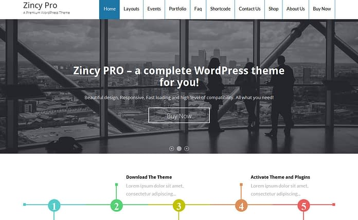 Zincy Pro - Premium WordPress Business Theme