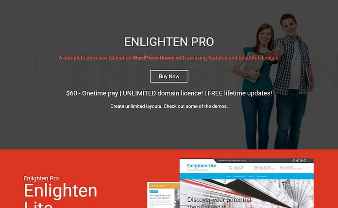 Enlighten Pro - Premium Educational WordPress Theme