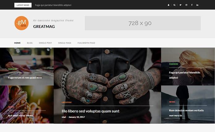 GreatMag - Modern Magazine WordPress Theme