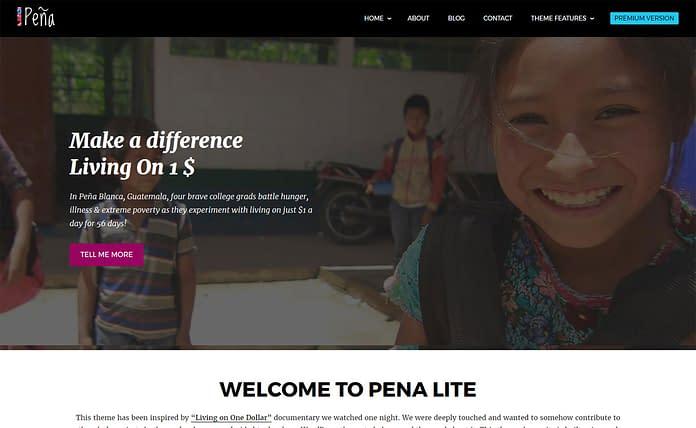 Pena Lite - Free Charity WordPress Theme