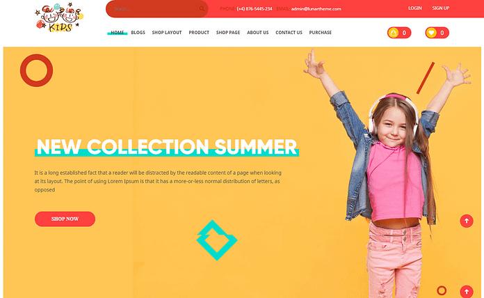 Kids - Premium eCommerce WordPress Theme