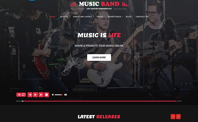 music producer - premium WordPress music theme