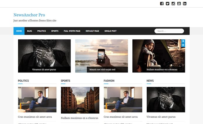 News Anchor Pro WordPress Magazine Theme
