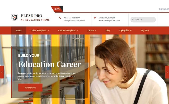 Elead Pro - Premium WordPress Educational Theme