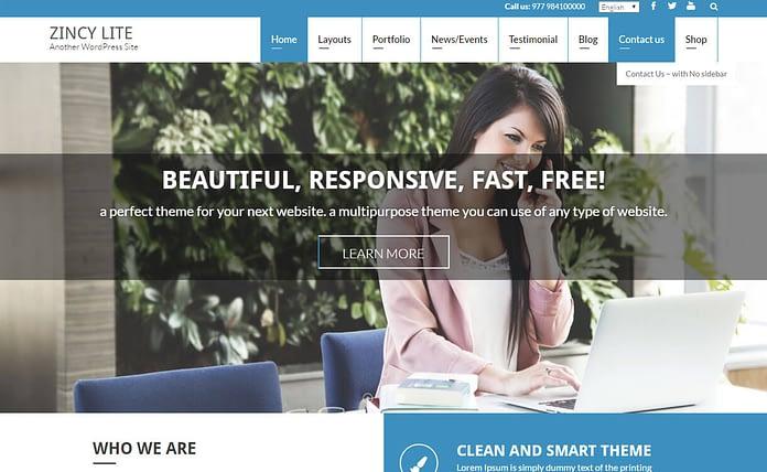 zincy-lite-free-WordPress-theme