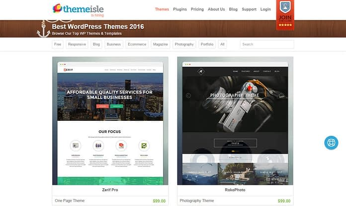 themeisle-WordPress-theme-store