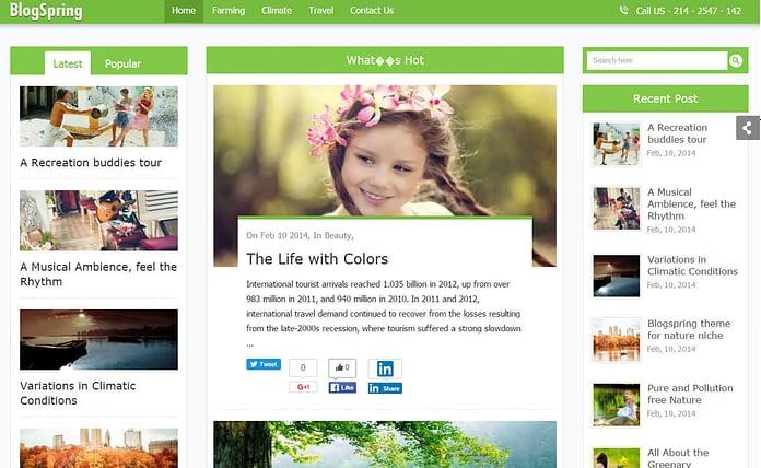 BlogSpring - Premium WordPress Blog/Magazine Theme