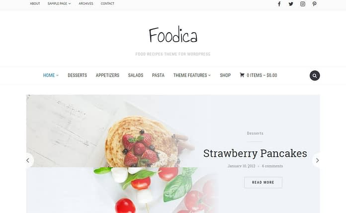 Foodica - Premium WordPress Food Recipe Theme