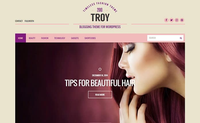 Troy - Premium WordPress Blog Theme