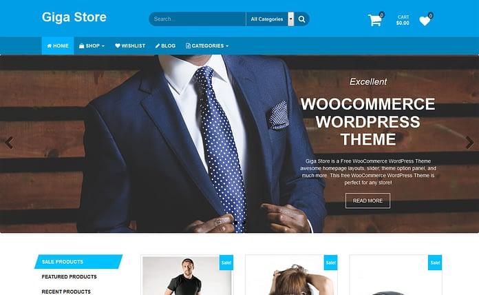 Giga Store - Free Responsive Blog Theme