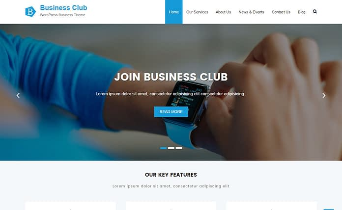 Business Club - Free Multipurpose WordPress Theme