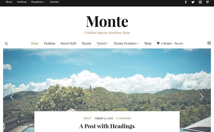 Monte - Premium Magazine WordPress Theme