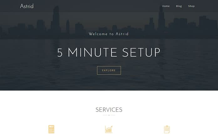 Astrid - Free Business WordPress Theme