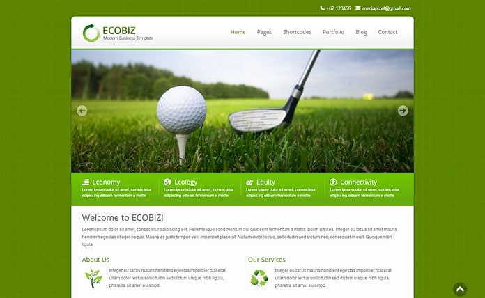 Ecobiz - Premium Business WordPress Theme