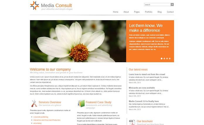 Media Consult - Modern Business WordPress Theme