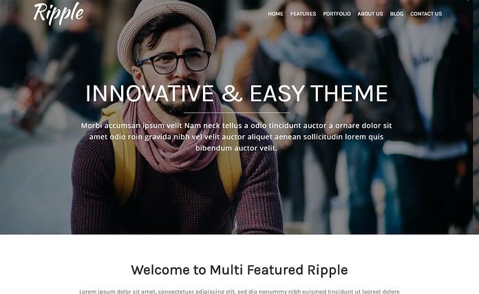 Ripple - Clean One Page WordPress Theme