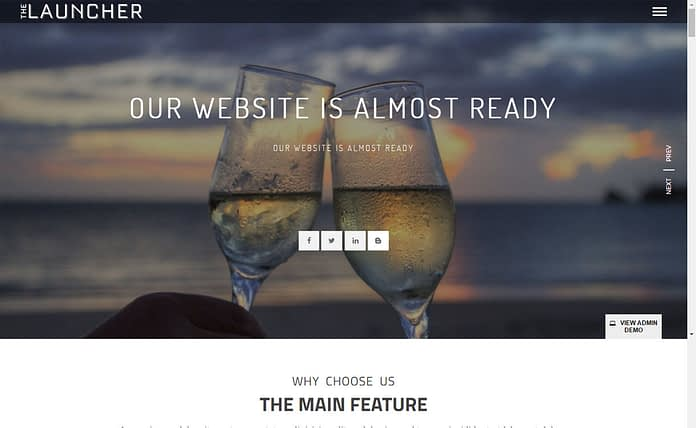 The Launcher - Best Free Coming Soon and Under Maintenance WordPress Themes and Templates