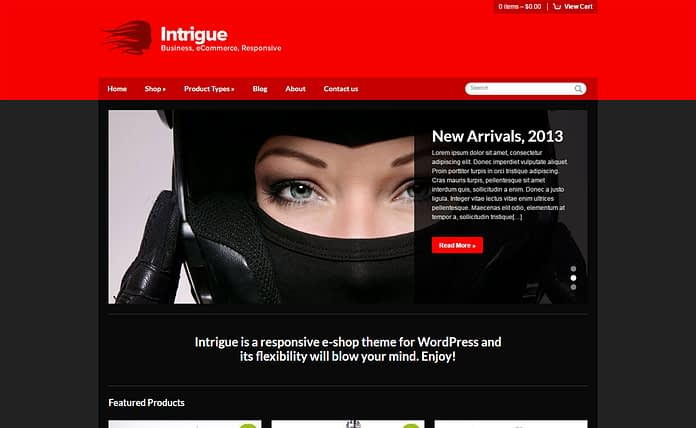 Intrigue - Premium WordPress Store Theme