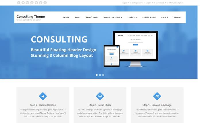 Consulting - Free Multipurpose WordPress Theme