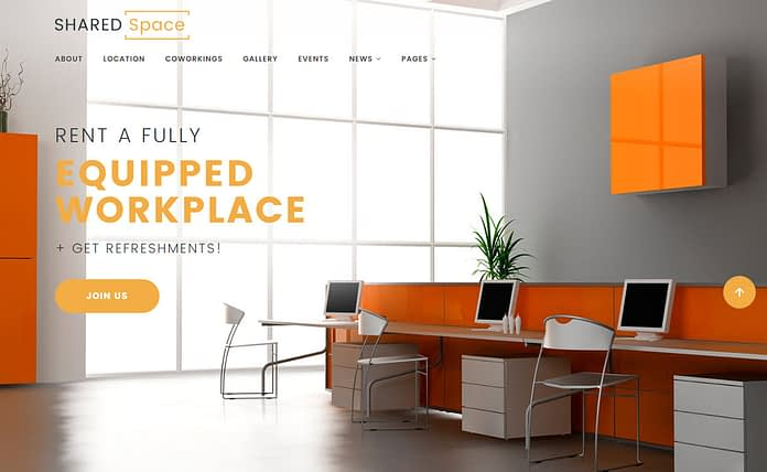 Shared Space - Premium Parallax WordPress Theme