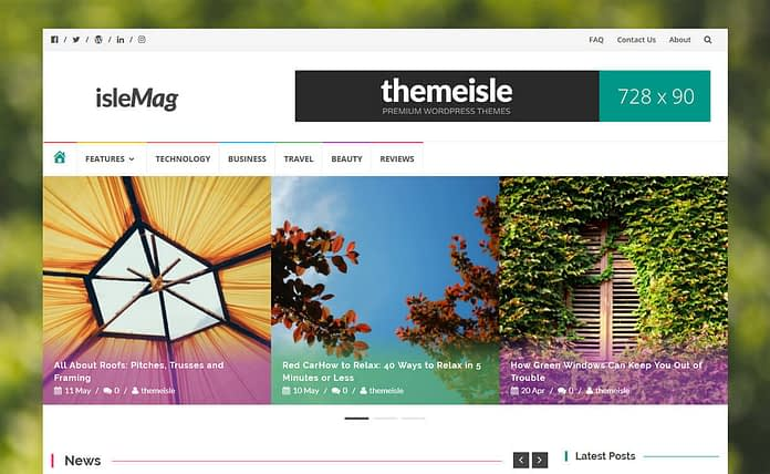 IsleMag - Best Free Adsense WordPress Themes