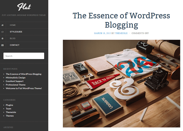 Flat - Free Blog WordPress Theme