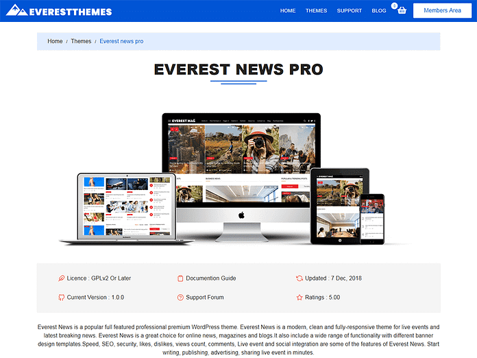 everest news pro 1024x768 - Best WordPress Deals for Christmas and New Year 2019