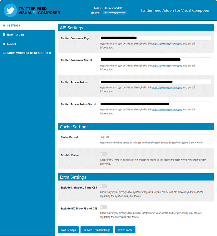 twitter feed addon documentation screenshot main setting 941x1024 - How to Showcase Twitter Feed for your WP Bakery powered WordPress website?