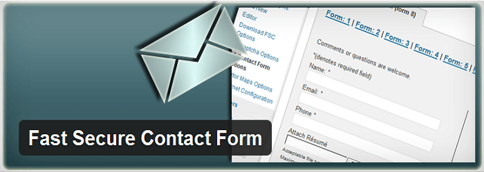 Fast Secure Contact Form - 15+ Best Free and Premium WordPress Contact Form Plugins
