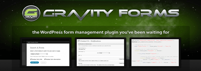 Gravity Forms - 15+ Best Free and Premium WordPress Contact Form Plugins