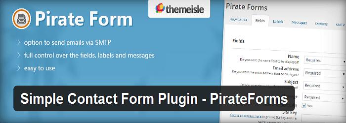 PirateForms - 15+ Best Free and Premium WordPress Contact Form Plugins