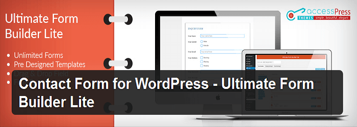 Ultimate Form builder Lite - 15+ Best Free and Premium WordPress Contact Form Plugins