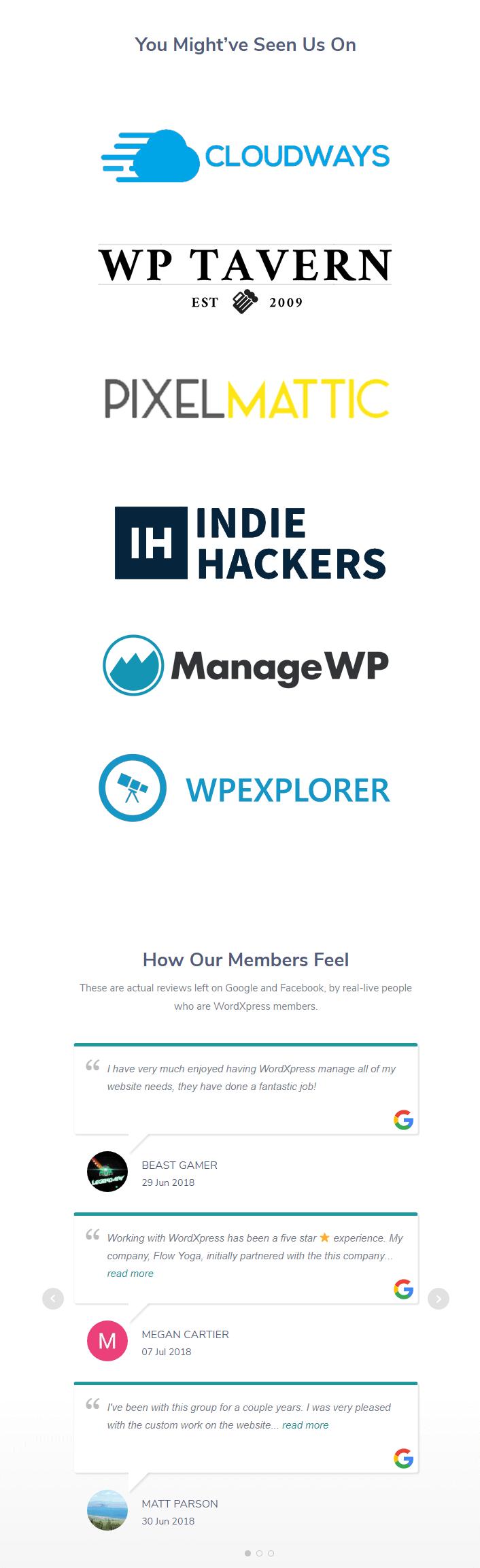 WordXpress Support Service Client Portfolio - WordXpress - WordPress Maintenance Service