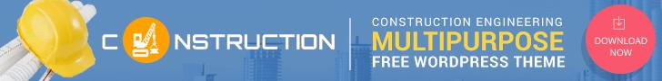 Construction - Free WordPress Theme for Construction Company