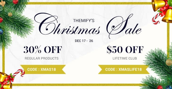 themify christmas and new year sale 1 - Best WordPress Deals for Christmas and New Year 2019