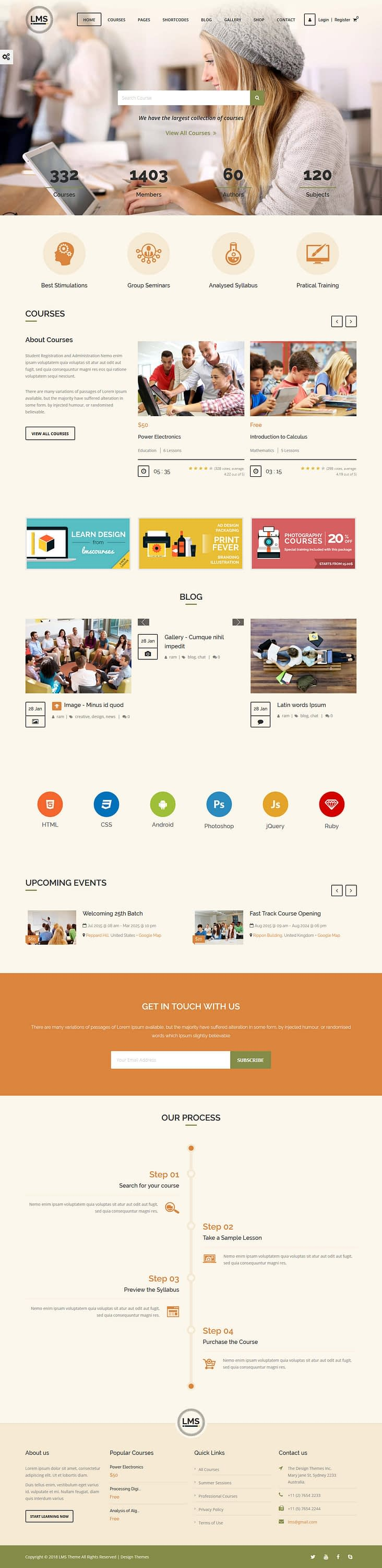 LMS - Best Premium LMS WordPress Theme