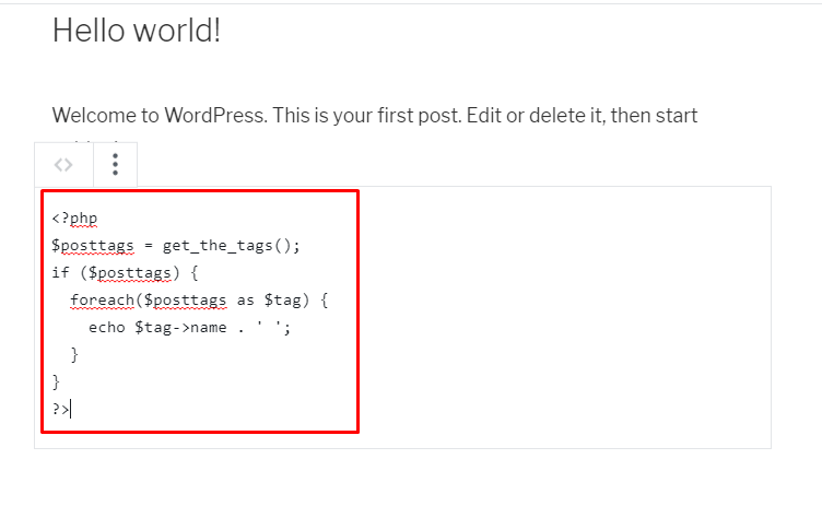 Adding a code in WordPress blog posts 1 - How to display code on your WordPress site?