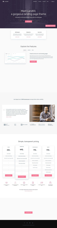 Landkit - Premium WordPress Landing Page Themes