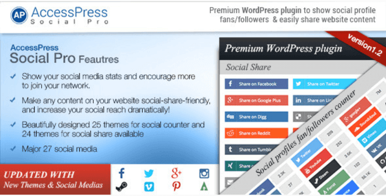 AccessPress Social Pro - 15+ Must Have WordPress Plugins for Business Websites in 2019