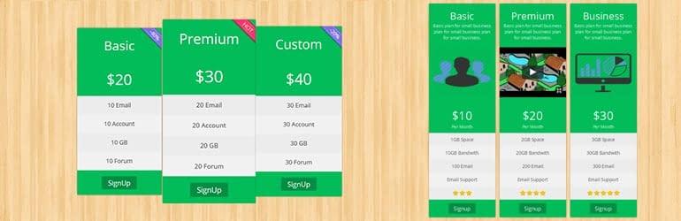 Pricing Table by Pickplugins - Best Free WordPress Pricing Table Plugins
