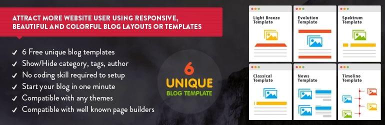 Blog Designer - Best Free WordPress Blog Manager Plugins