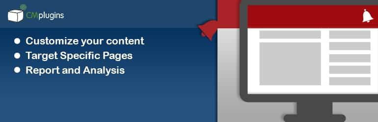 cm notification bar best free wordpress notification bar plugins - 5+ Best Free WordPress Notification Bar Plugins