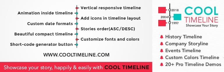Cool Timeline - Best Free WordPress Timeline Plugins