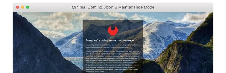 Minimal Coming Soon Maintenance Mode - Best Free WordPress Coming Soon/Maintenance Mode Plugins