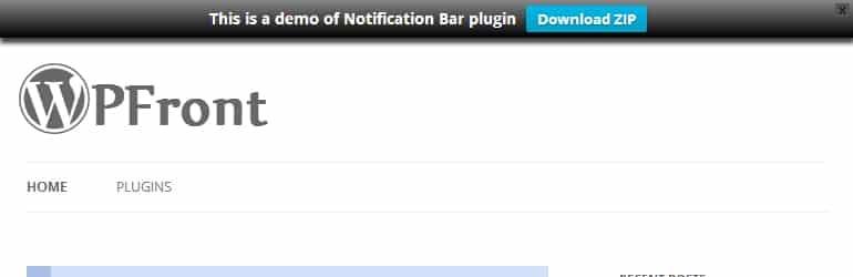 wp front notification bar best free wordpress notification bar plugins - 5+ Best Free WordPress Notification Bar Plugins