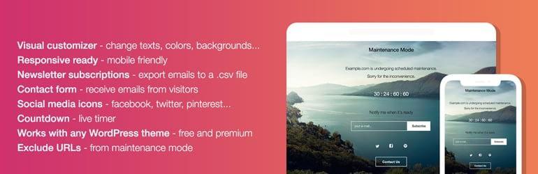 WP Maintenance Mode - Best Free WordPress Coming Soon/Maintenance Mode Plugins
