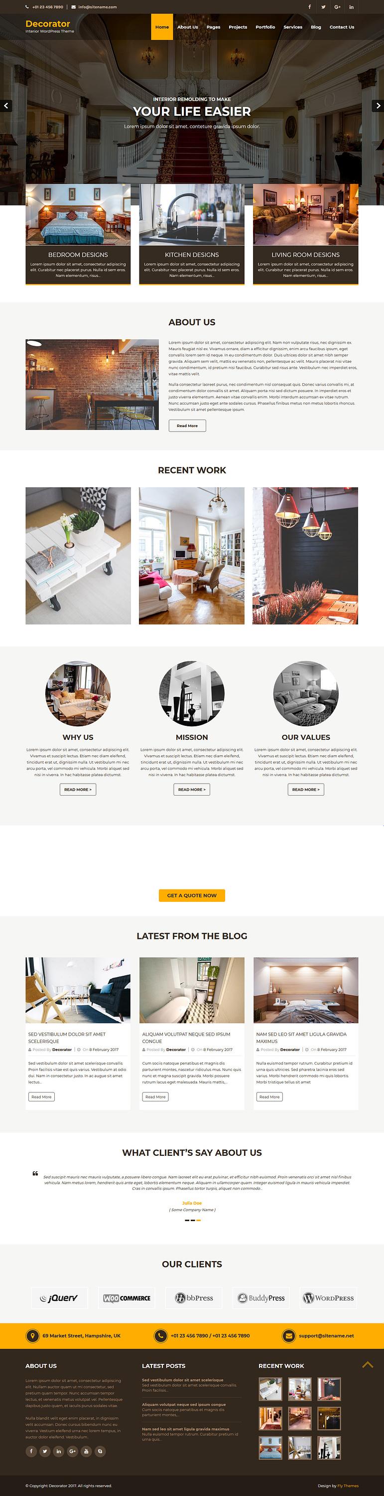 decorator best free architecture wordpress theme - 10+ Best Free Architecture WordPress Themes