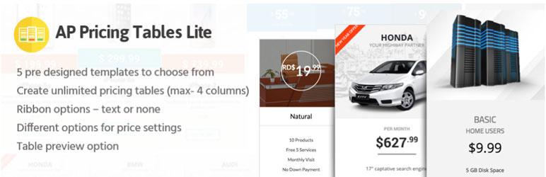 AP Pricing Tables Lite - Free WordPress Plugin