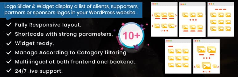 wp logo slider with widget responsive - 10+ Free WordPress Logo Showcase Plugins
