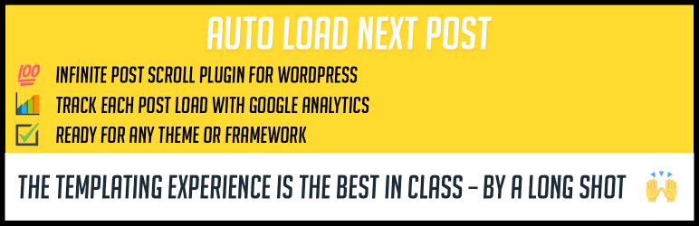 Auto Load Next Post - 5+ Best Free WordPress Infinite Scroll Plugins